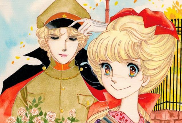 花村紅緒(右)と伊集院忍 (C)大和和紀『はいからさんが通る』/講談社