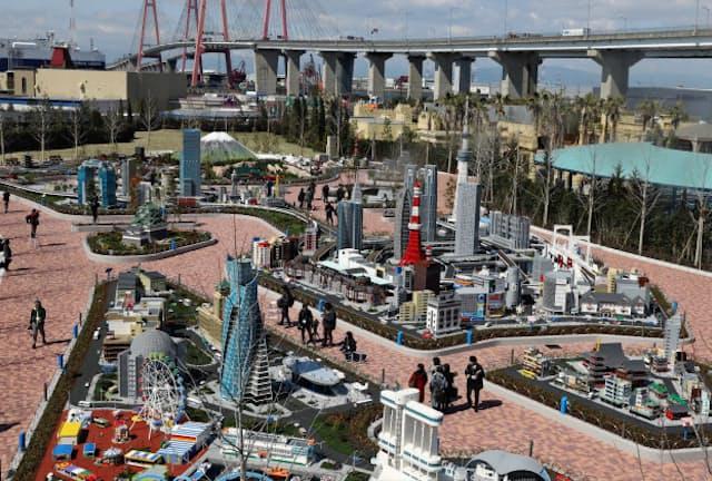 約1050万個のレゴブロックで日本の街並みを再現した「ミニランド」
