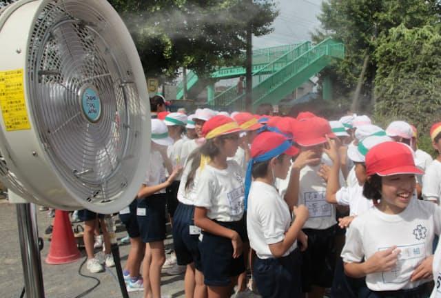 秋の運動会は残暑対策が課題だ(さいたま市の小学校)