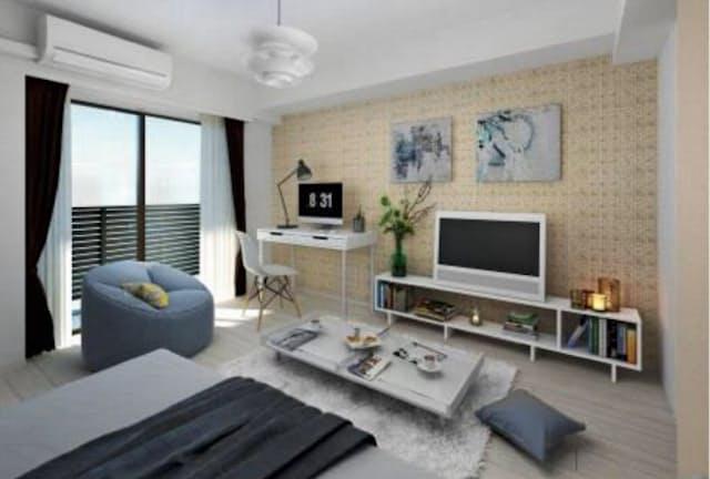 シノケンは家財まで備えた民泊物件を開発している