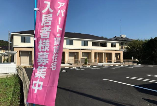 地方で空室が埋まらないアパートが増えている(栃木市)