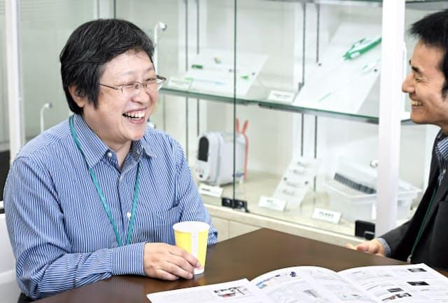 転移も乗り越え管理職として働くテルモの小山田さん(東京都新宿区)