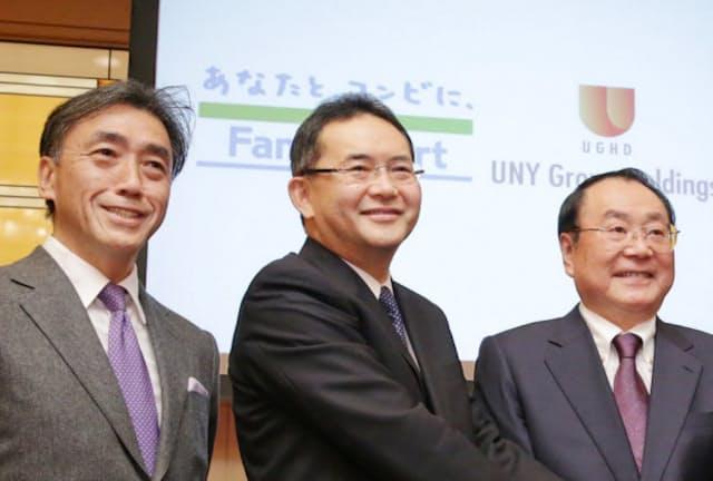 ファミリーマートの沢田氏、中山氏、上田氏(左から)