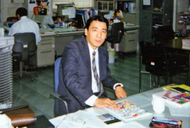 1994年、福岡営業所に赴任したころ。1年で帰京し、新規事業の課長職に着任する。