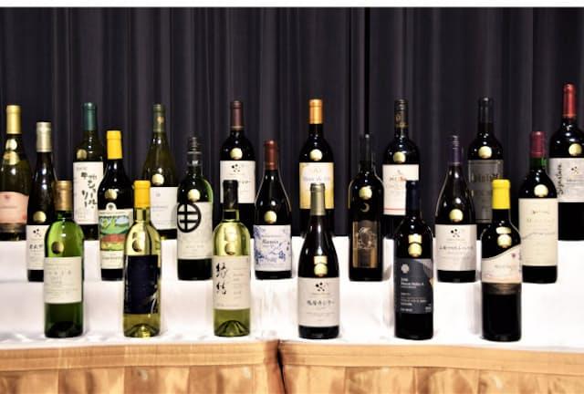 日本ワインコンクールで金賞を受賞したワイン