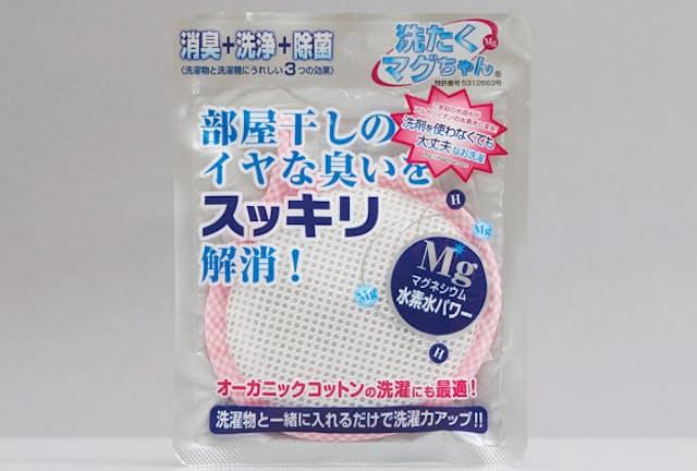 「洗たくマグちゃん」の価格は1800円(税別、以下同/マグちゃんショップ 楽天市場店)ネット素材は、発売当初から蛍光塗料などを使用していない「旭化成フュージョン」を使用している