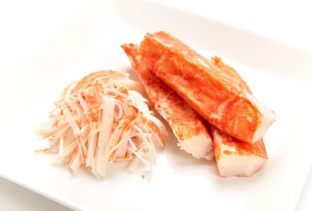 カニカマの主原料であるスケソウダラのタンパク質は、筋肉を増やす効果があるとされる(PIXTA)