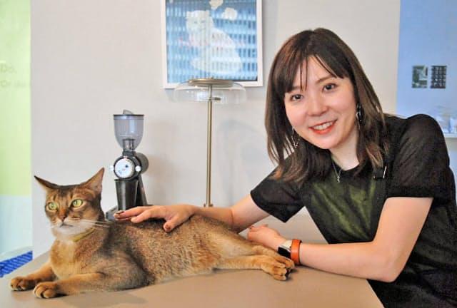 RABO(ラボ)の伊豫愉芸子代表は筋金入りの猫好きだ