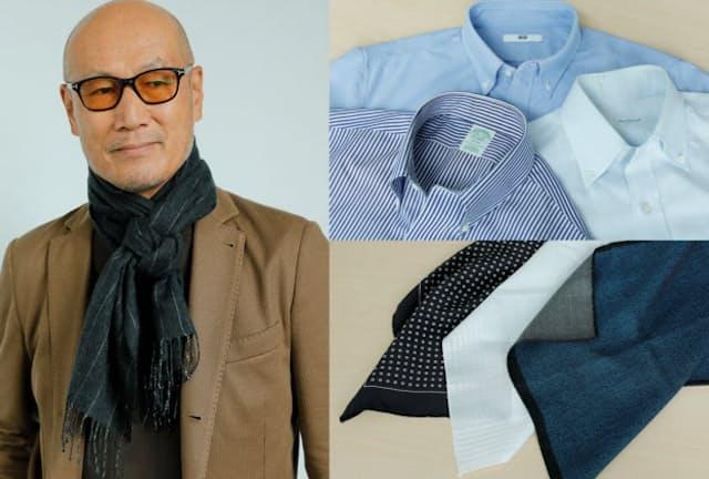 ストール、ボタンダウンシャツ、チーフの装いをファッションディレクターの森岡弘さんが解説する