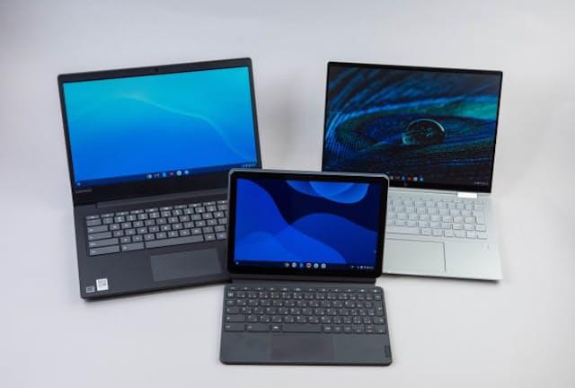 Chromebookの例。一見するとWindowsノートと見分けが付かないが、搭載するOSが異なる
