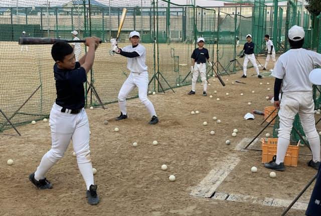 中学野球部は2020年秋の京都市大会で優勝した