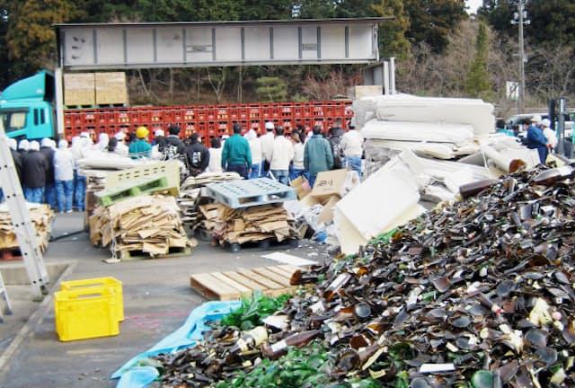 東日本大震災から11日後、一ノ蔵は被災後初出荷にこぎ着けた