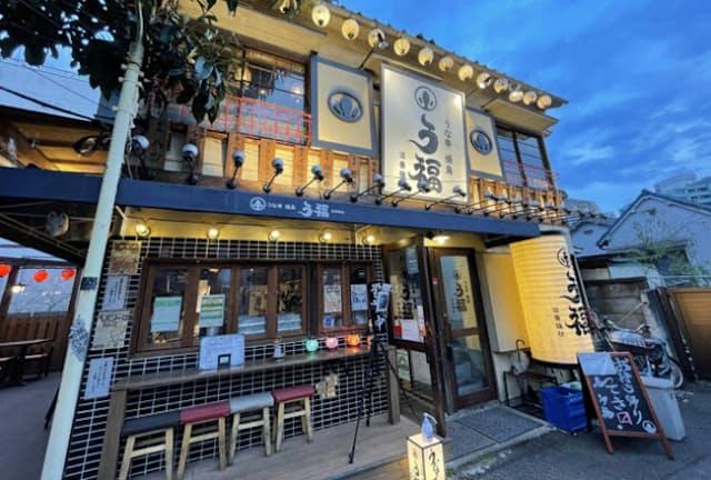 「う福」はJR代々木駅から徒歩3分ほど。一戸建てで老舗感満載