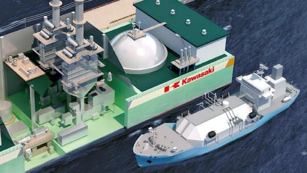 川重がLNG発電船 10万世帯に供給可能