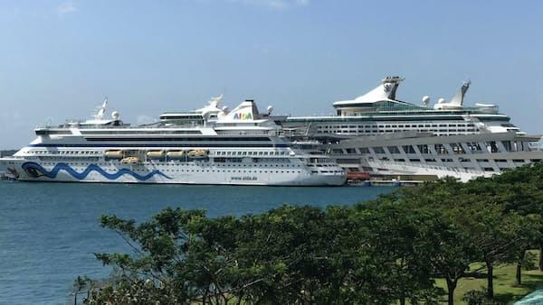シンガポールクルーズ、船のハブに