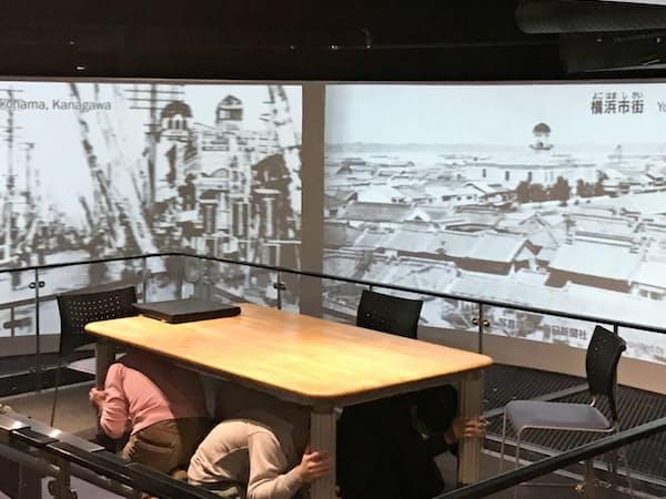池袋防災館では大規模地震の揺れを体験できる(東京都豊島区)