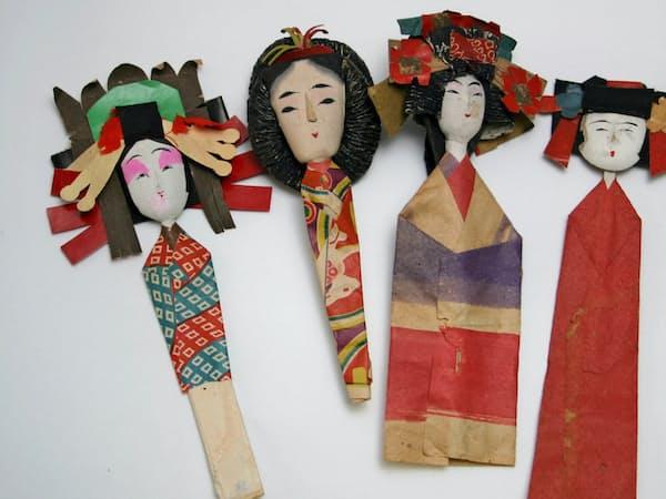 各地に伝わる戦前の姉さま(左から仙台市、山形・鶴岡市、松江市、松山市)