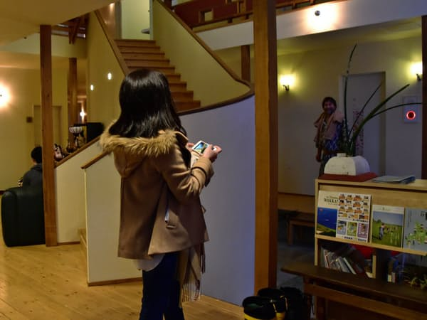 川島旅館に各地から湯治客や観光客が訪れる(豊富町)