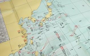 1947年に作られた「日本海軍艦船喪失一覧図」