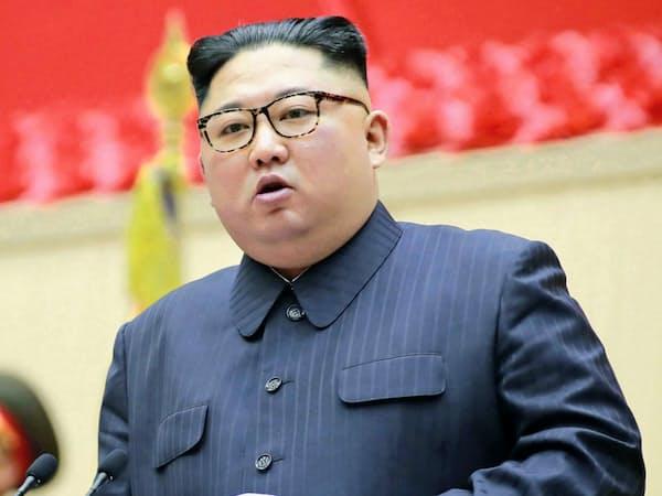 3月下旬、朝鮮人民軍の大会に出席した金正恩氏=朝鮮中央通信・共同