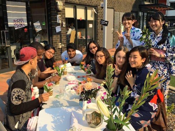豪への留学プログラムでは日本文化を紹介するイベントの企画運営も任される