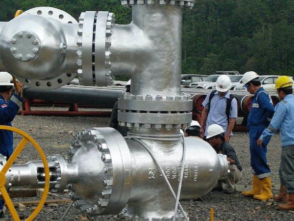 地熱発電向け特殊バルブはインドネシアなど11カ国に納入されている