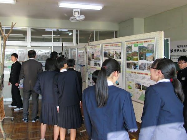 栃木県足利市立第三中の空き教室は、防災を学ぶ拠点となっている