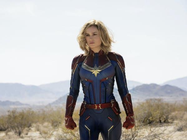 映画「キャプテン・マーベル」の一場面。26日公開「アベンジャーズ/エンドゲーム」にも登場する(C)Marvel Studios 2019
