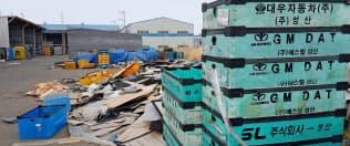 米ゼネラル・モーターズ(GM)の韓国法人「韓国GM」の協力工場は廃虚になっていた(19日、群山市の工業団地)