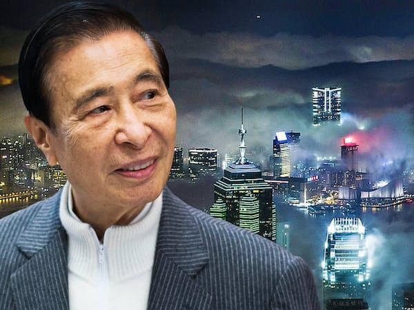 李兆基氏(左)率いる恒基兆業は香港の不動産を核に事業を拡大してきた=ともにゲッティ共同