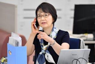 外国人材も活躍できる環境を整える高倉千春・グローバル人事部長(東京都中央区の味の素本社)