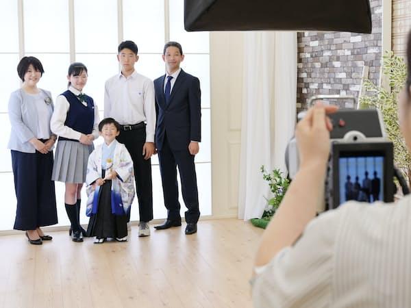 七五三の早撮りサービスを実施しているスタジオアリス(川崎市高津区)