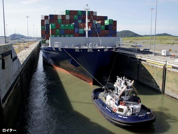 パナマ運河は少雨で通航を制限する事態に(2017年8月)=ロイター