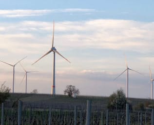 風力発電機の価格下落が落ち着き始めた(写真はドイツの陸上風力)