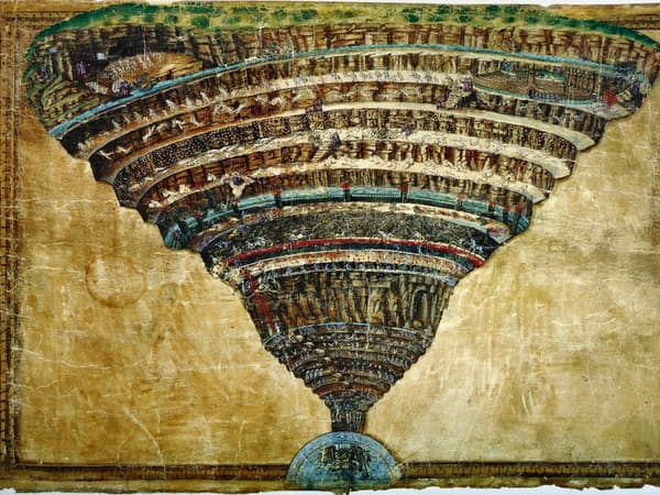 サンドロ・ボッティチェリ「地獄の見取り図」(C)heritage/amanaimages
