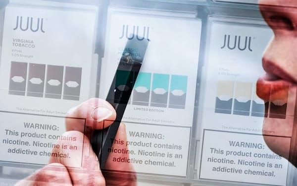 紙巻きから電子たばこに移行する人は増えているが…=人物はAP、商品パッケージはゲッティ共同