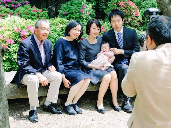 子供の記念日に利用する人が多い                                                   (アワーフォト)