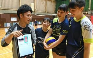 筑波大女子バレーボール部はAIコーチシステムを活用する(茨城県つくば市)