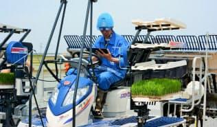 井関農機は営農支援ソフト「アグリノート」と自社の農機の稼働データを連動させる(新潟市)