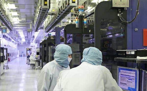 ソウル郊外にあるSKハイニックスの半導体メモリー工場