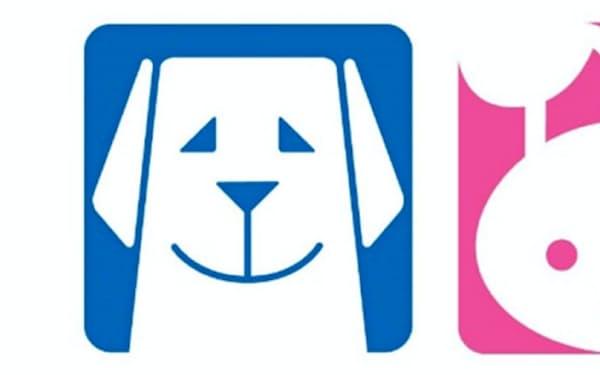 「共遊玩具」に表示を推奨する盲導犬とうさぎのマーク
