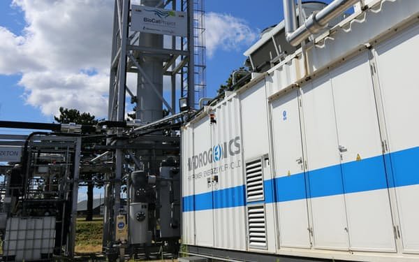 余った電気で水素をつくり、電力の調整力とする(コペンハーゲンの研究施設)