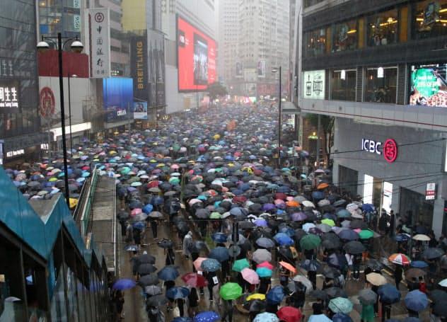 香港デモ、勢い衰えず