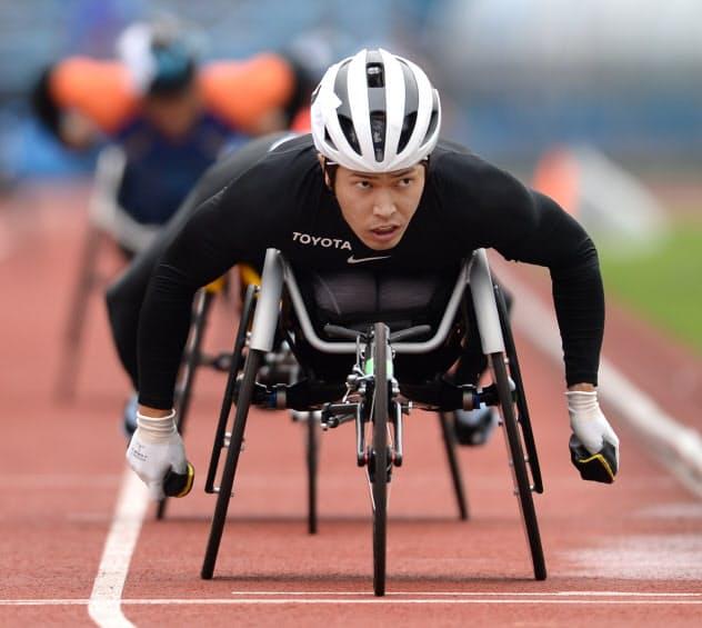 鈴木は「東京パラリンピックまでやるべきことが明確に見えている」と迷いはない(7月の関東パラ陸上選手権)