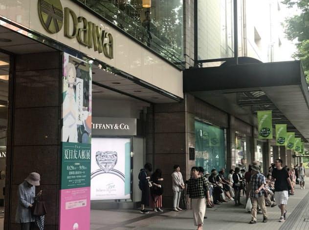 百貨店の大和は金沢市や富山市の中心市街地の「顔」的な存在だ(金沢市の香林坊店)