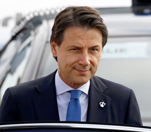 イタリアのコンテ首相(24日、仏ビアリッツ)=ロイター