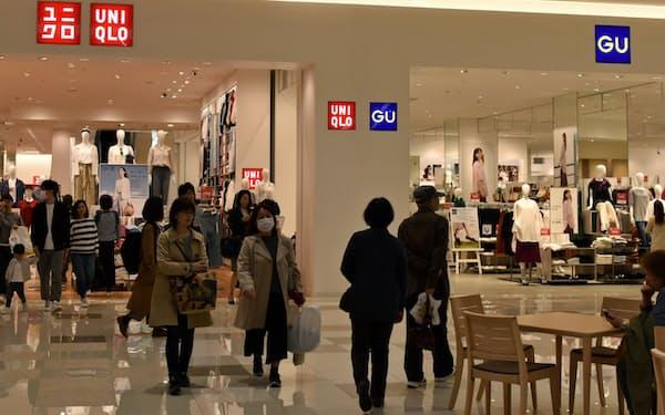 立地の良い場所で店舗を相次ぎ大型化した(宮城県のイオンモール名取店)