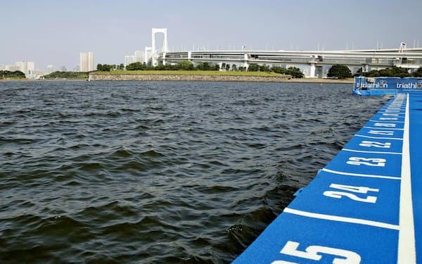 水質悪化でパラトライアスロンのスイムが中止に(東京・お台場海浜公園)