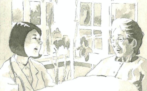 患者が主体的に考える社会になりつつある。在宅ケアはその一つの形だ                                                   イラスト・よしおか じゅんいち