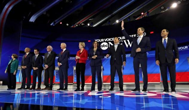 12日のテレビ討論会への出席者は10人に絞り込まれた=AP